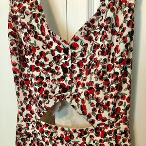 flower print midi dress Forever 21